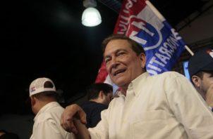 El candidato presidencial del PRD Laurentino Cortizo arremetió en su discurso contra los panameñistas y el CD.