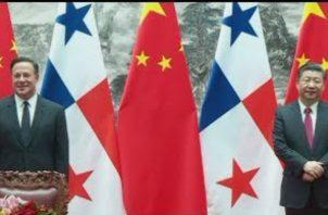 El presidente Juan Carlos Varela en su visita a China.