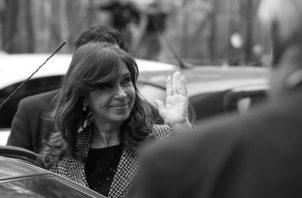 La expresidenta argentina Cristina Fernández, luego de declarar ante un juez el pasado martes (18 de septiembre) -EFE