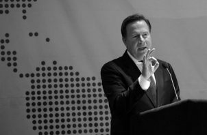El presidente de la República de Panamá, Juan Carlos Varela