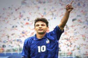 Roberto Baggio. Foto: @BaggioOfficial