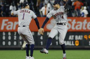 Los Astros de Houston doblegaron el martes 4-1 a los Yanquis. Foto/AP
