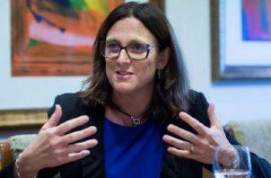 La comisaria europea de Comercio, Cecilia Malmström. Foto: EFE