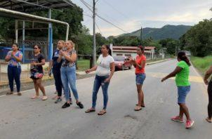 Protestaron en las calles de Bique, exigiendo seguridad. Foto: Eric A. Montenegro.