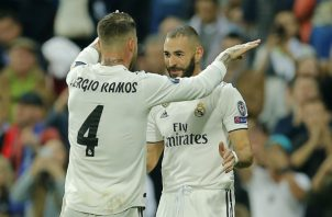 Sergio Ramos y Benzema del Real Madrid. Foto:AP