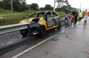 Según los primeros datos, el conductor iba a una velocidad considerable. Foto: Policía Nacional.