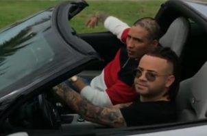 Kenny y Nacho durante la grabación.