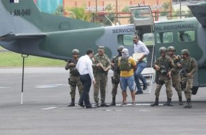 El colombiano pretendía viajar a ciudad capital este fin de semana antes de ser capturado. Foto: Senafront.