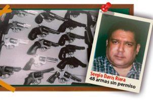 Se le encontró un cargamento de 48 armas sin permisos. Ilustración de Epasa