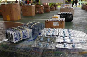 Colombianos y dominicano involucrado en caso de presunto contrabando de medicamentos. Foto/Cortesía