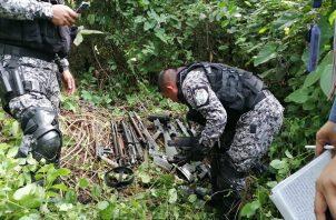 Hallazgo de armas en sector de Costa Verde en  La Chorrera