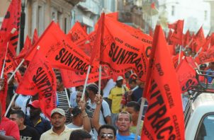 El Suntracs anunció protestas diarias en todos los proyectos donde hayan miembros de ese sindicato. Foto: Panamá América.
