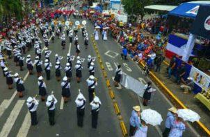 XXIII Encuentro de Bandas Estudiantiles que organiza la Lotería Nacional de Beneficiencia (LNB). Foto/Archivos
