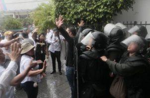 Los estudiantes  de la Universidad de Panamá  han protagonizado una serie de protestas en los últimos días.
