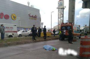 Investigan presunto suicidio en gran estación de San Miguelito. Foto/Cortesía