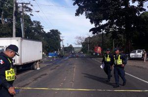 El exceso de velocidad y la poca visivilidad provocaron la colisión fatal. Foto: Panamá América.