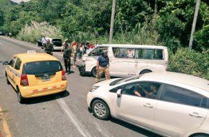 El accidente de tránsito se registró a la altura de Howard, yendo hacia Panamá Oeste.
