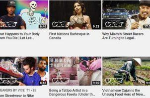 Vice Media es un medio irreverente enfocado en los millennials y el entretenimiento.