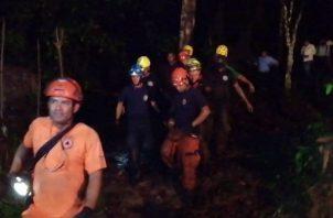 Socorristas del Sinaproc asistieron al área de la tragedia. Foto: Eric A. Montenegro.
