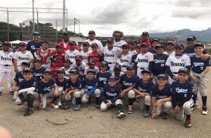 Jugadores de Panamá y Guatemala. Foto:Fedebeis