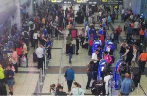 Aumenta movimiento de pasajeros en el aeropuerto de Tocumen. Foto: Aeropuerto de Tocumen