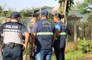 Las autoridades policiales realizan operativos en busca de posibles sospechosos del crimen que se dio recientemente en el distrito de Las Palmas y otros delitos cometidos. Foto/Melquiades Vásquez