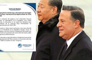 En la cuenta de Twitter de su gestión, Juan Carlos  Varela destacó que la invitación viene del presidente Xi Jinping. Ilustración Panamá América