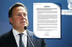"""Juan Carlos Varela dijo que recurrirá a acciones legales tras la publicación de esas conversaciones que consideró """"privadas"""". Ilustración: Adiel Bonilla."""