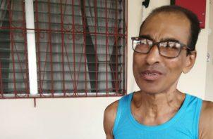 Juan Adonay Moreno fue hallado con vida, aunque en difíciles condiciones de salud. Foto: Thays Domínguez.