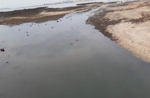 La desembocadura del río Matasnillo, hasta donde llegaría una de las dos playas de la bahía. Foto de Epasa