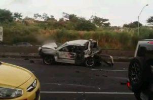 Varios de los automóviles implicados en el accidente resultaron con pérdida total. Foto: Eric A. Montenegro.