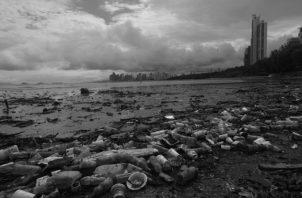 El problema de la basura en Costa del Este, privilegiado lunar de nuestra metrópolis. Tenemos que reprogramar al homo Sapiens Panamensis para que no sea tan cochino. Foto: Archivo.