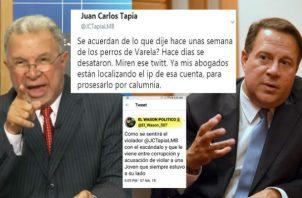 El entonces presidente Juan Carlos Varela ordenó cancelar pautas televisivas al programa que dirige Juan Carlos Tapia por las críticas realizadas contra su gestión pública. Foto: Panamá América.