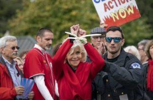 Jane Fonda protesta. ¿Asunto? El cambio climático.