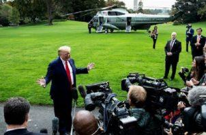 Imagen de archivo del presidente estadounidense, Donald Trump.  Foto:EFE