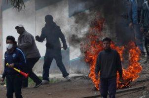 Simpatizantes de Evo protestan. FOTO/AP