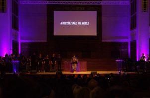 La Reverenda Yolanda Norton creó la Misa de Beyoncé para recurrir a las experiencias de mujeres negras jóvenes. Foto/ Ashley Lane.