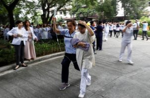 Desalojan los centros hospitalarios. FOTO/AP