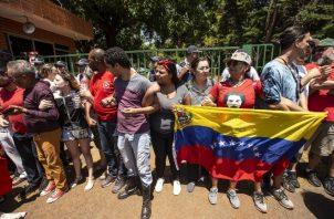 Partidarios del presidente de Venezuela, Nicolás Maduro. Foto/EFE
