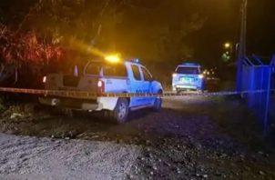 El crimen se perpetró pasada las 10:30 de la noche. Foto: Mayra Madrid.
