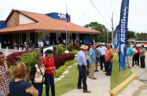 La nueva sede del Banco Nacional en Herrera, facilitará los pagos que reciben los beneficiarios de los programas sociales.