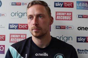 Ryan Allsop reportó lo que escuchaba de los fanáticos Foto Wycombe Wanderers