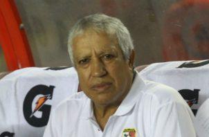Américo Gallego solo ha dirigido cuatro partidos con la selección de Panamá. Foto Anayansi Gamez