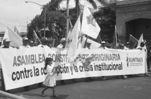 Poner en marcha un proyecto constituyente, destinado a refundar el Estado, a fin de que exprese los intereses de la población, es una necesidad histórica inaplazable. Foto: Víctor Arosemena. Epasa.