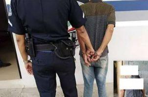 Fue detenido y está a la espera de las sanciones correspondientes. Foto: Mayra Madrid.