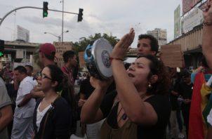 Mañana se retoman las acciones de calle con una marcha a la Presidencia.  Foto de archivo