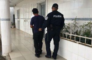 El sujeto fue traslado a la cárcel de Santiago. Foto: Melquiades Vásquez A.