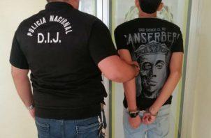 El joven fue detenido por la Policía Nacional.