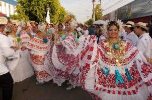 El Desfile de las Mil Polleras se realizará el 11 de enero de 2020. Foto: Archivo