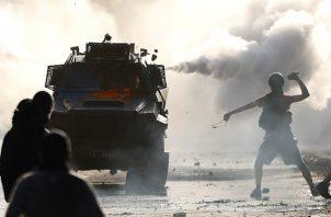 Altos niveles de represión contra los manifestantes chilenos. FOTO/EFE.